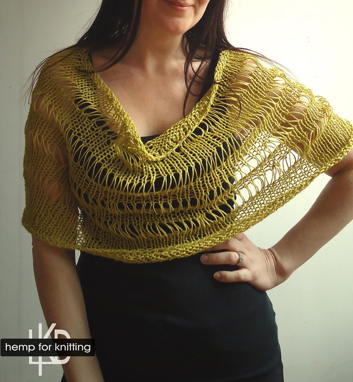 Free Knitting Pattern for Drop Stitch Capelet Cowl - Easy drop ...