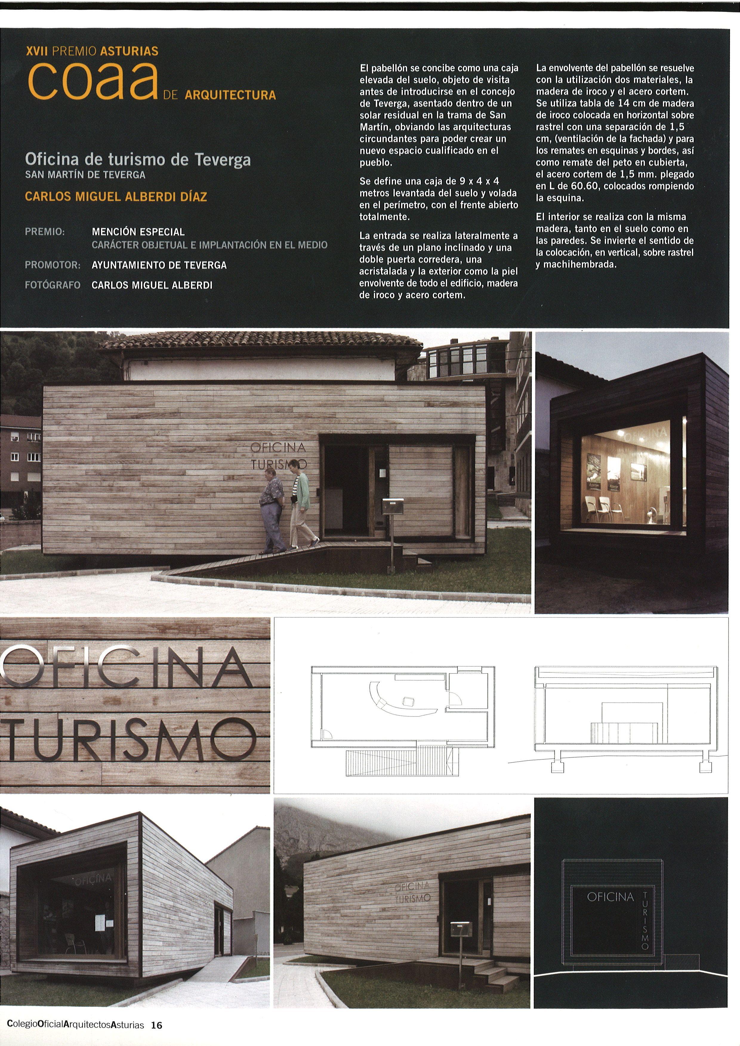 Xvii premio asturias de arquitectura 2004 menci n for Oficina de turismo asturias