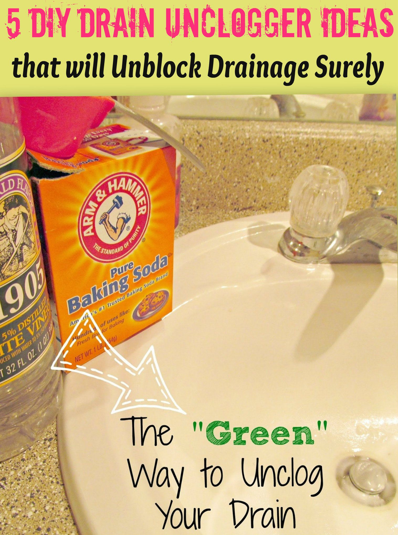 5 Easy DIY Drain Unclogging Ideas to Get Rid of a Clogged ...