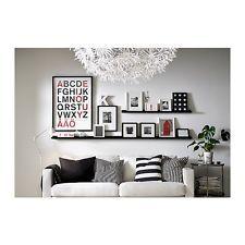 21 Wohnzimmer bilderleiste schwarz