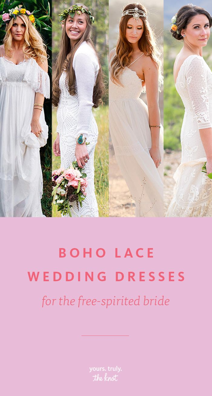 Free wedding dress   Boho Lace Wedding Dresses for the FreeSpirited Bride  Romantic