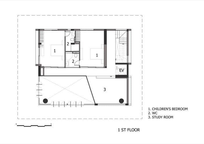 Interesante proyecto de casa con piscina en azotea, construido en Ho
