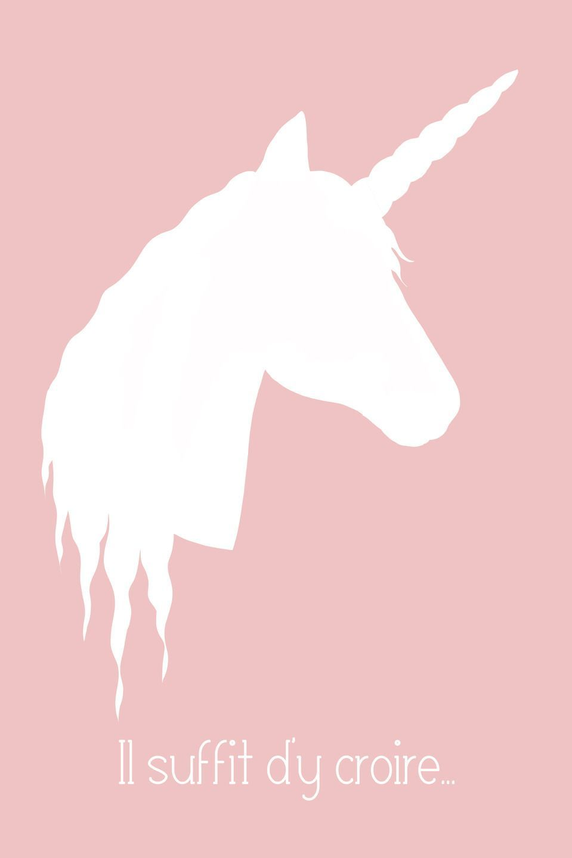 Fr Affiche Deco Pour Chambre D Enfant Licorne Fondos De Unicornios Dibujos Ilustraciones