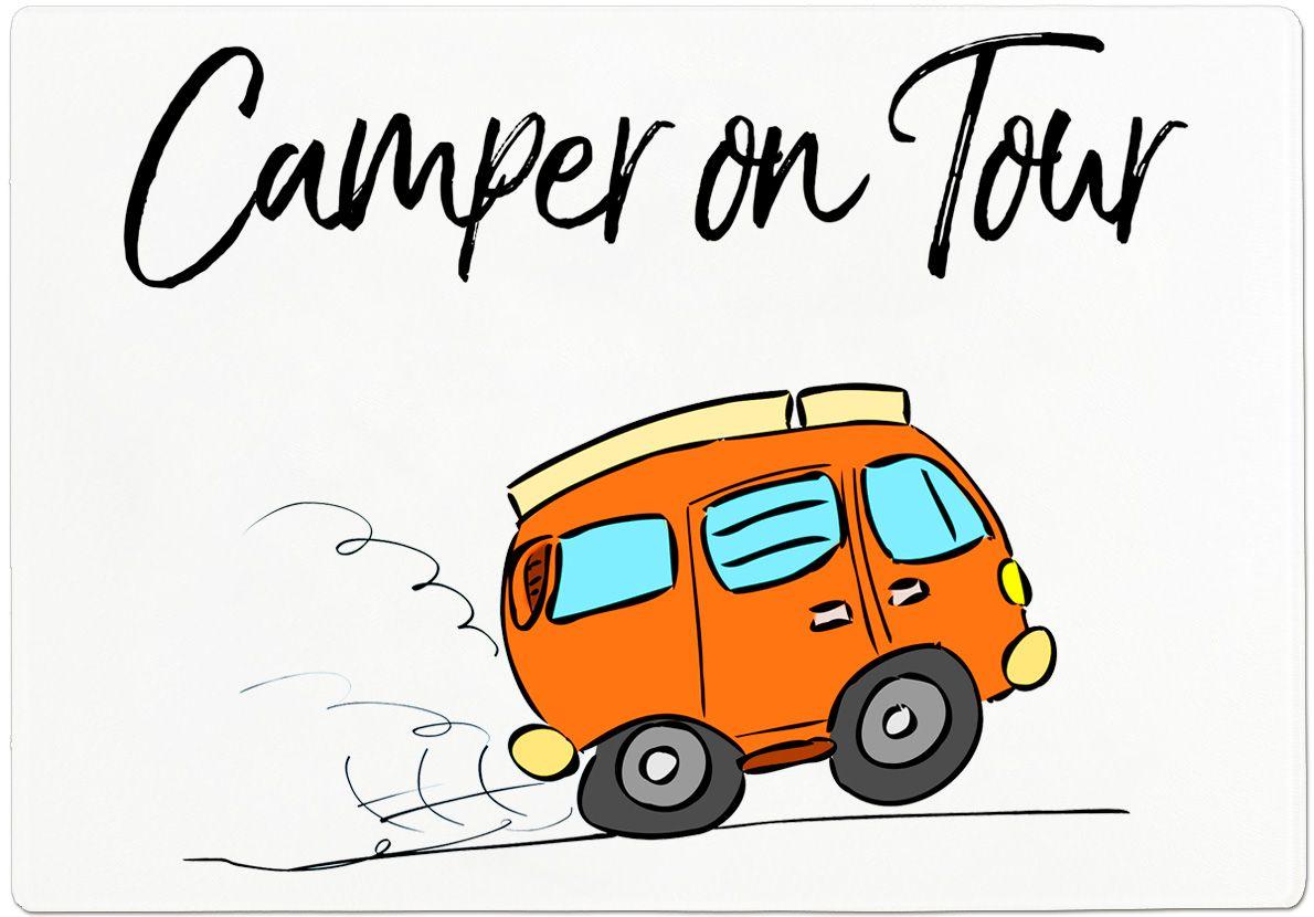 Schneidebrett CAMPER ON TOUR  Geschenke für camper, Camping