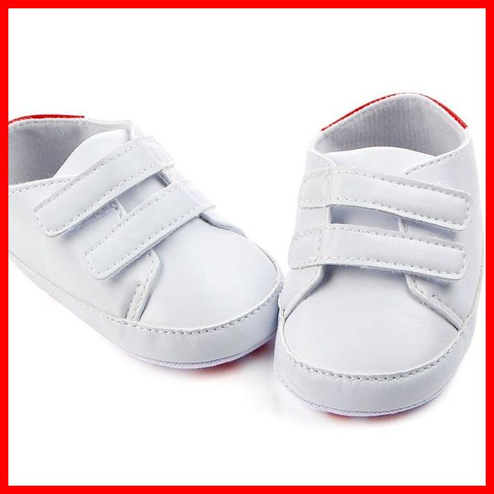US $3.03 |Fashion White PU Leather Baby Moccasins