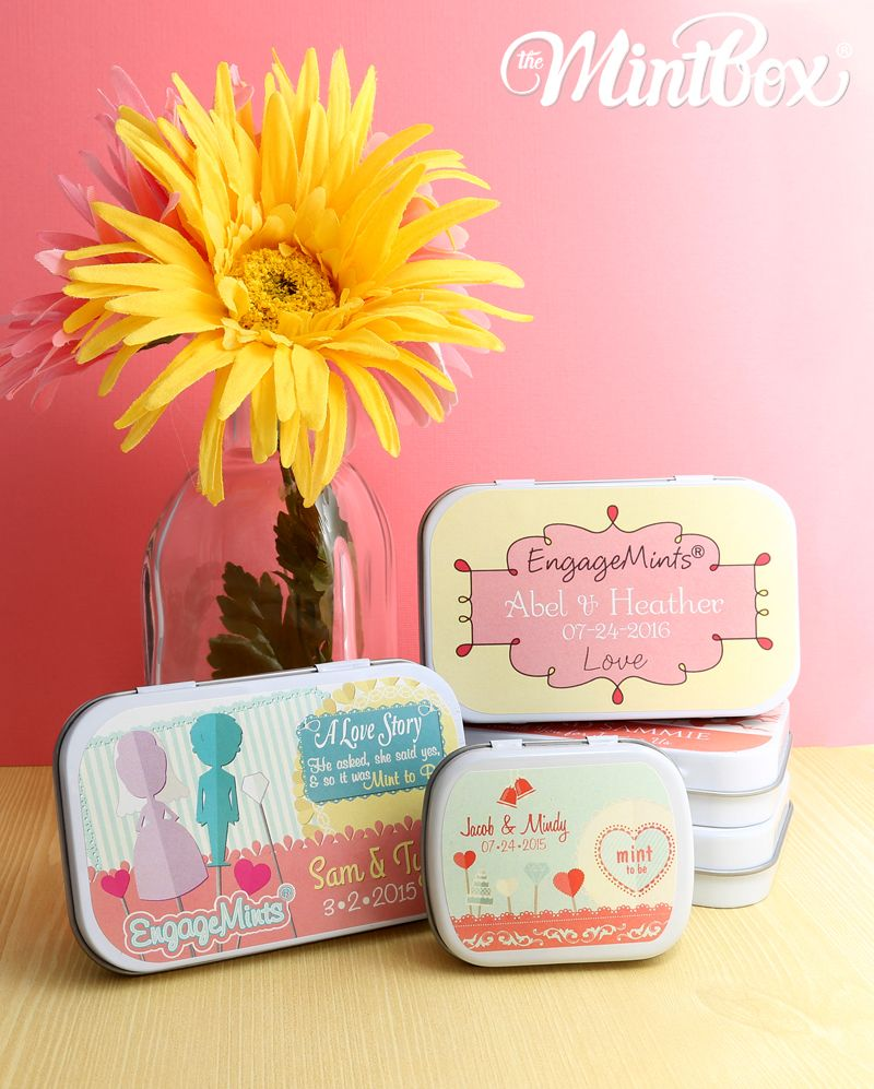 Recently Engaged?! Personalized EngageMint Tin Favors make great ...