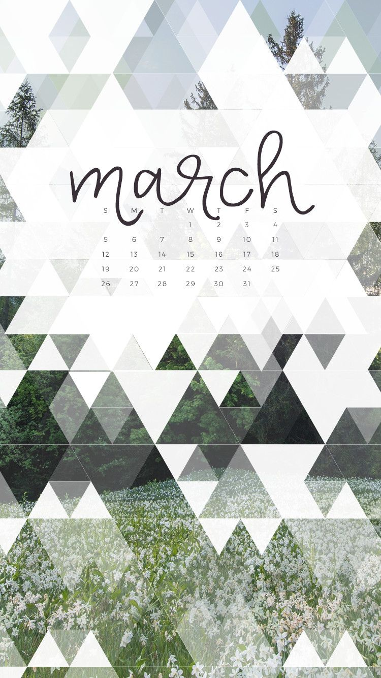 Great Spring Is Coming So Cover Your Devices With Green! Enjoy This Free March  2017 Calendar