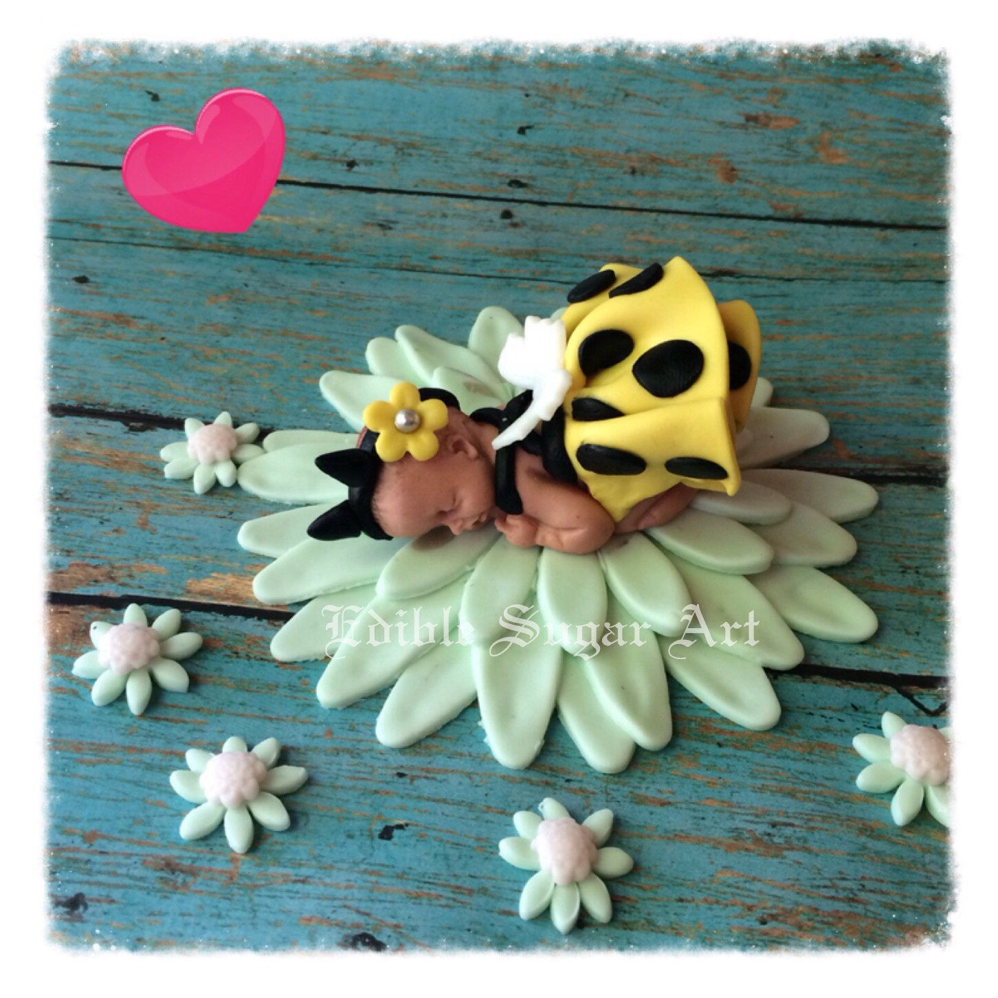 BA BEE BUMBLE BEe Shower Cake Topper Fondant Toppers Baby First Birthday Bumble Bee Flower Decorations Favors Edible