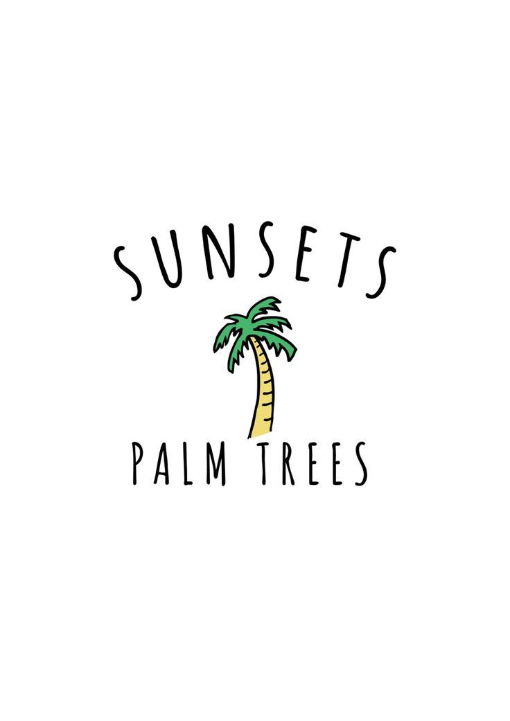 Sunset & Palm Tree graphic summer