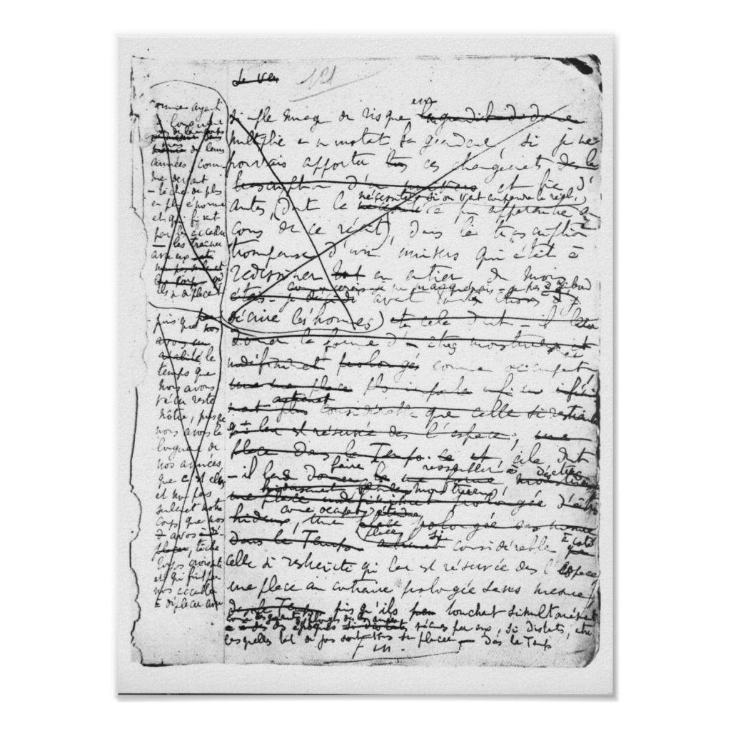 Last page of 'A la Recherche du Temps Perdu' | by Marcel Proust | Art Location: Bibliotheque Nationale, Paris, France | French Artist | Image Collection Number: XIR162324