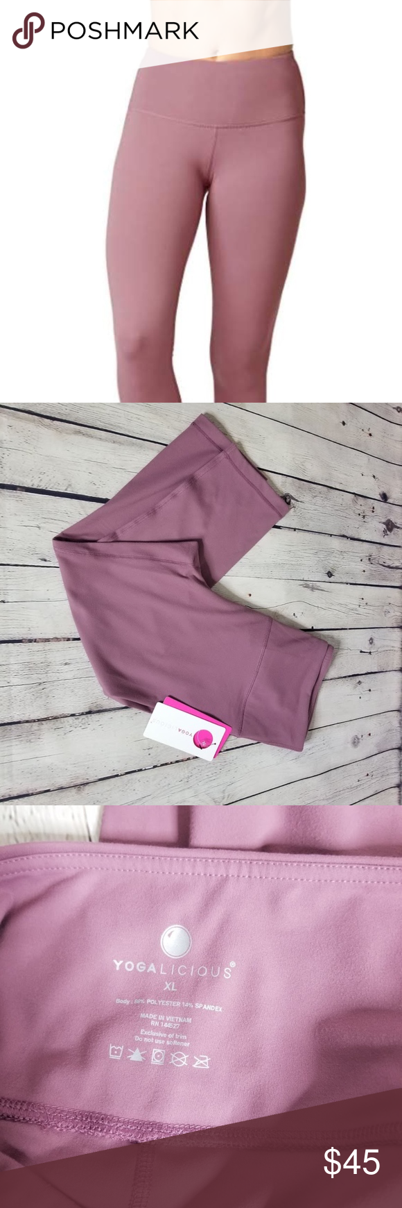 a3ce094e72de9 Yogalicious high waist capri yoga pants activewear NWT Yogalicious high  waist Capri nude tech yoga activewear