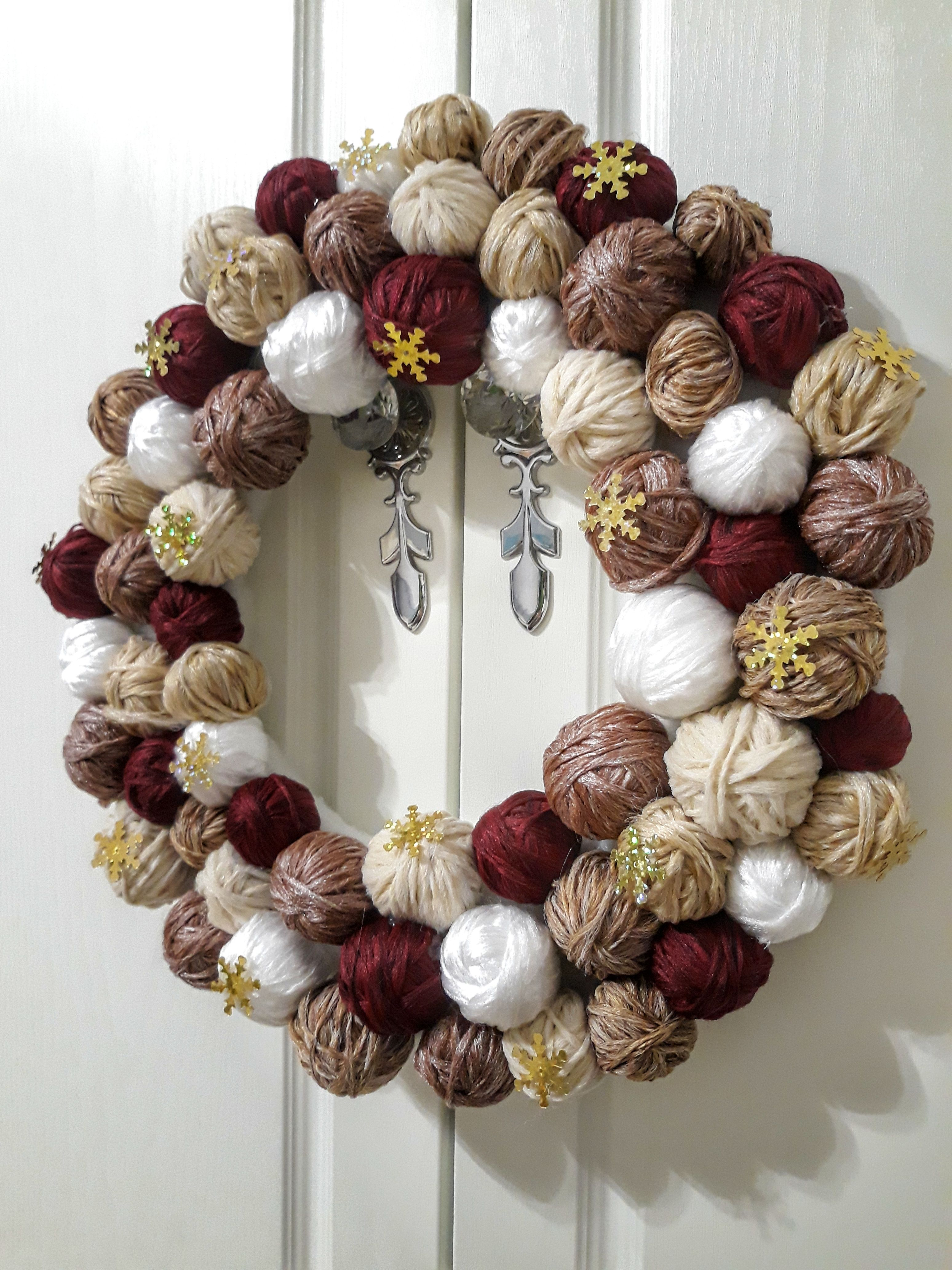 Новогодний венок на дверь своими руками фото фото 381