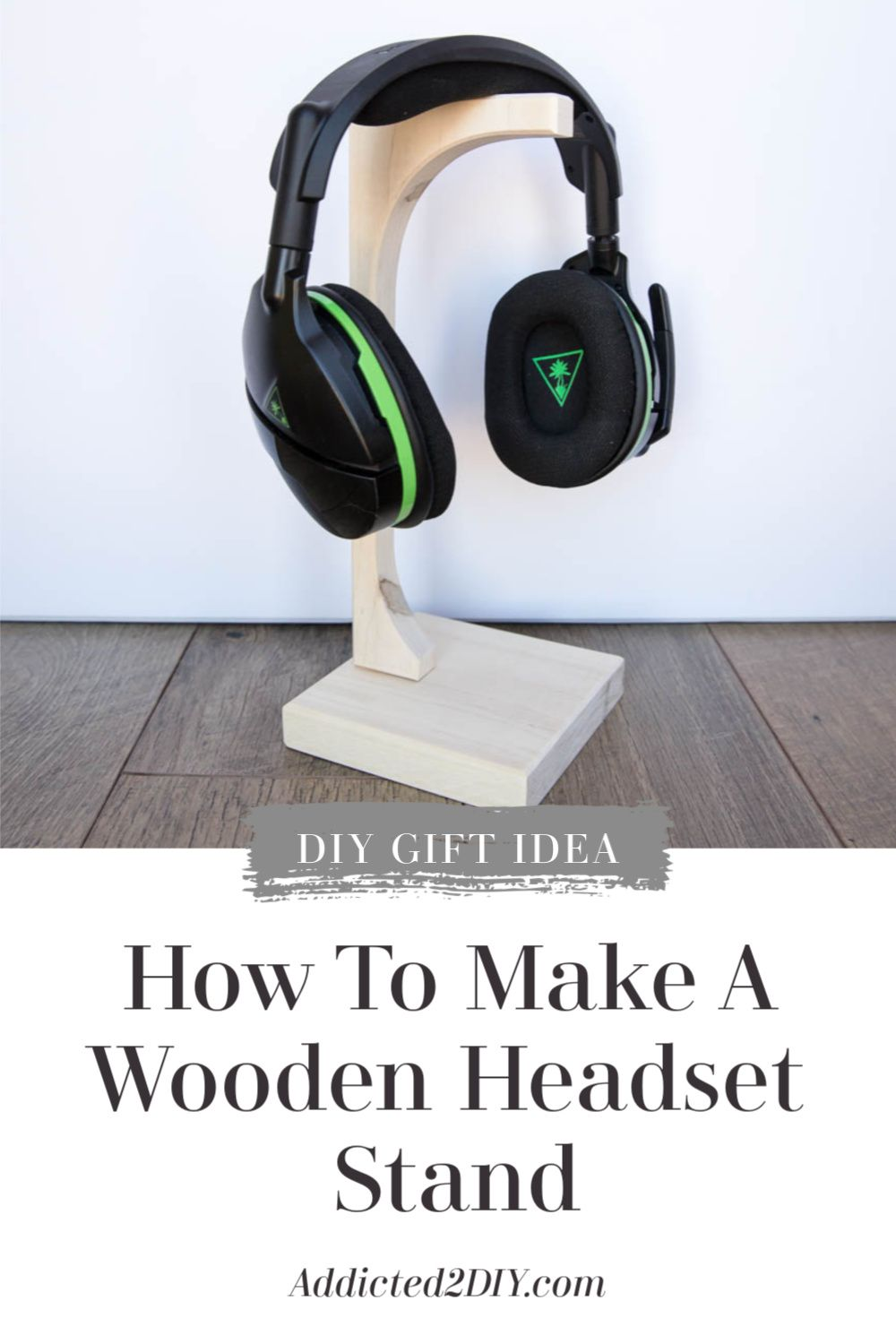 How To Make A Wooden Headset Stand