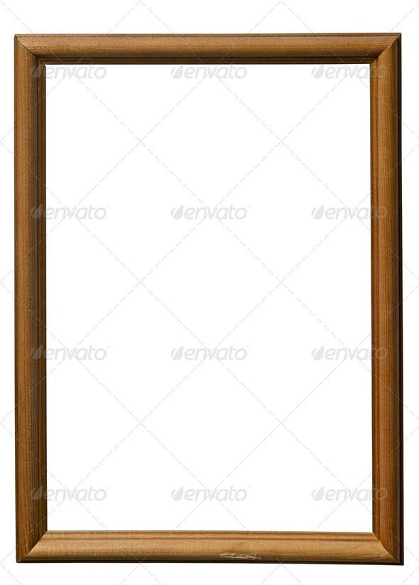 wooden frame isolated on white background adorned aged ancient antique art artistic background blank border bordering borderline br - Wood Frame