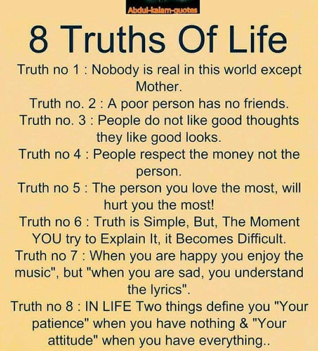 8 truths of life | Quotes | Funny relationship quotes ...
