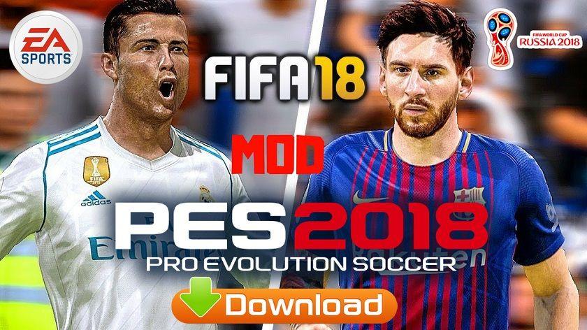 FIFA 18 Mod PES 2018 Offline Update Apk Data Download | Cell Phone