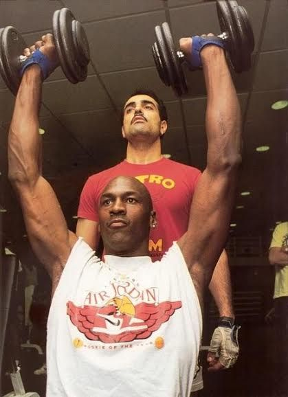 Image result for michael jordan weight training