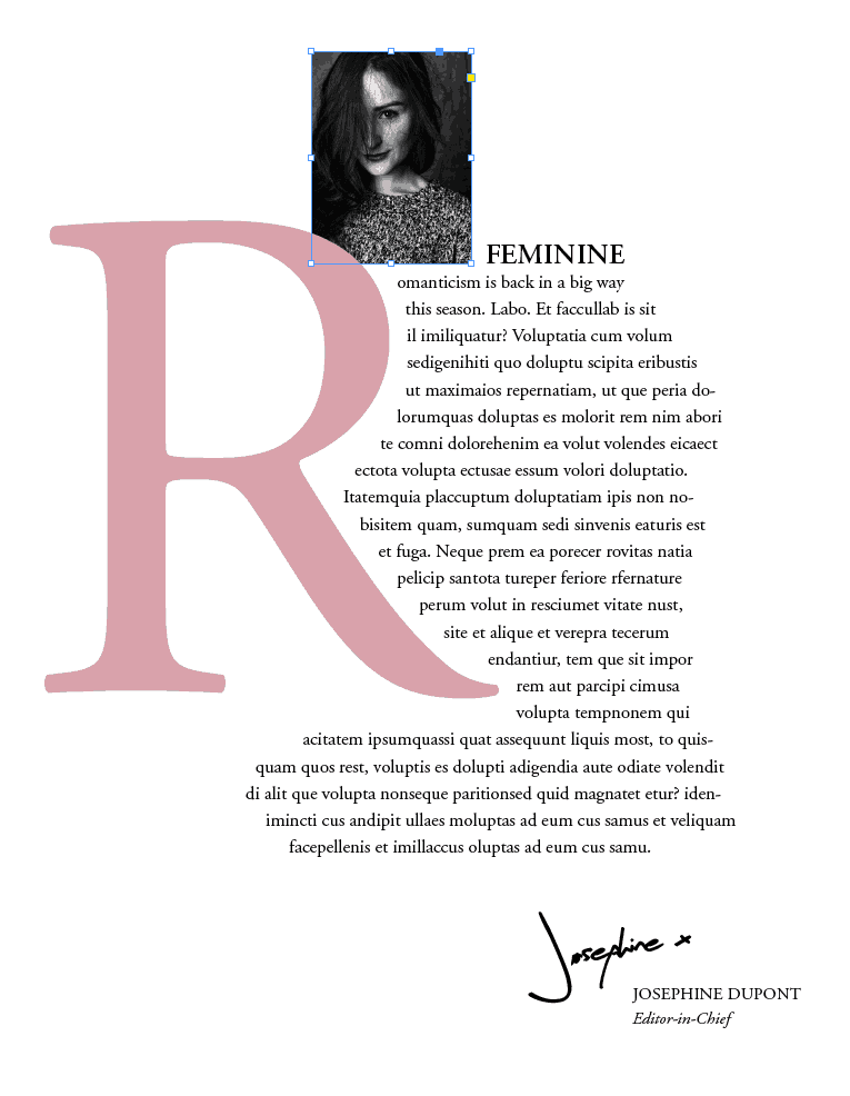 Create Beautiful Drop Caps in InDesign - InDesign Skills #magazinelayouts