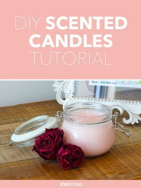 Make your own candles in the colors and scents you've been dreaming of