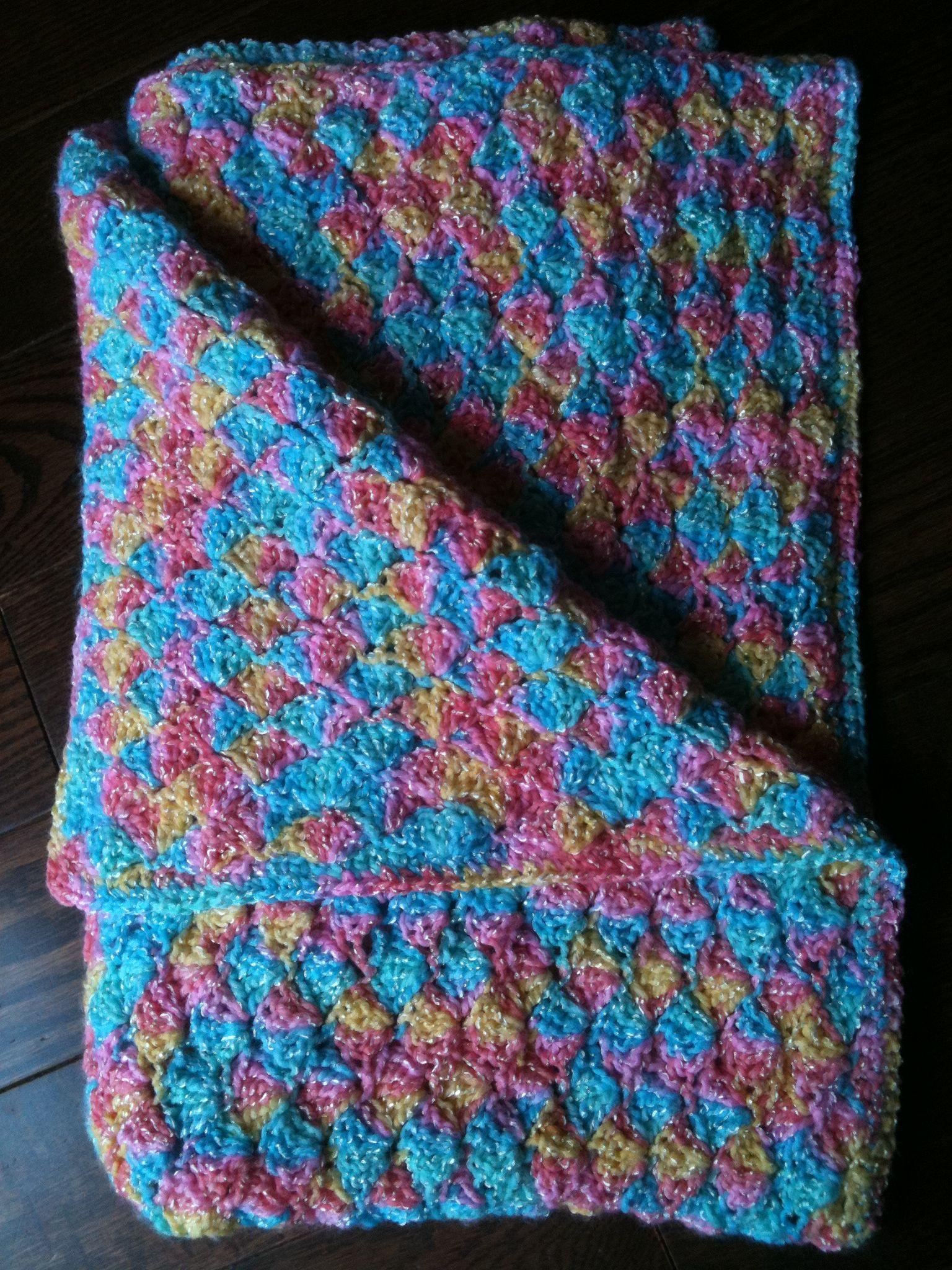 How To Crochet The Rainbow Sherbet Baby Blanket – Cute12