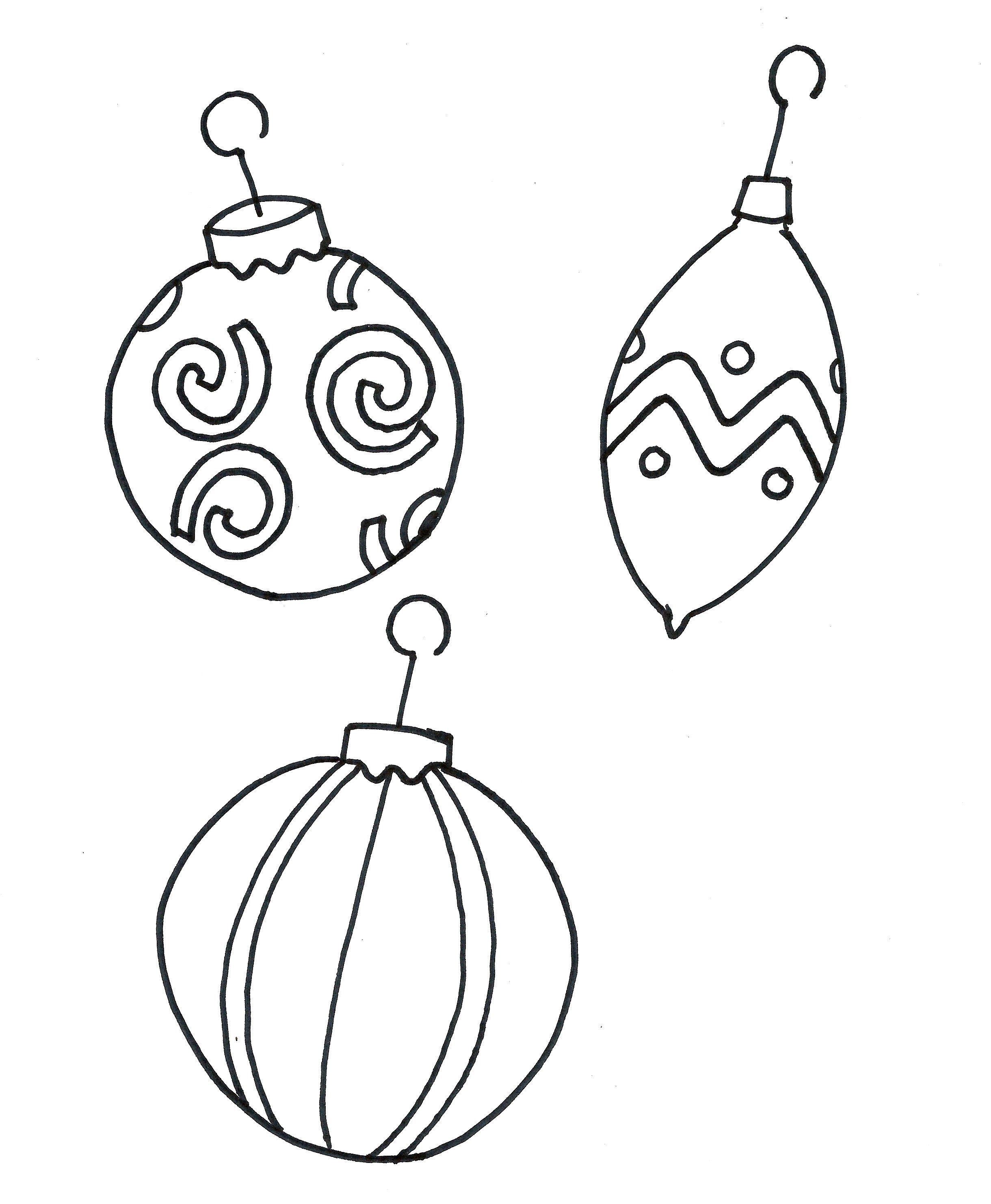 Printable Coloring Pages Christmas Ornament Free | Christmas Crafts ...