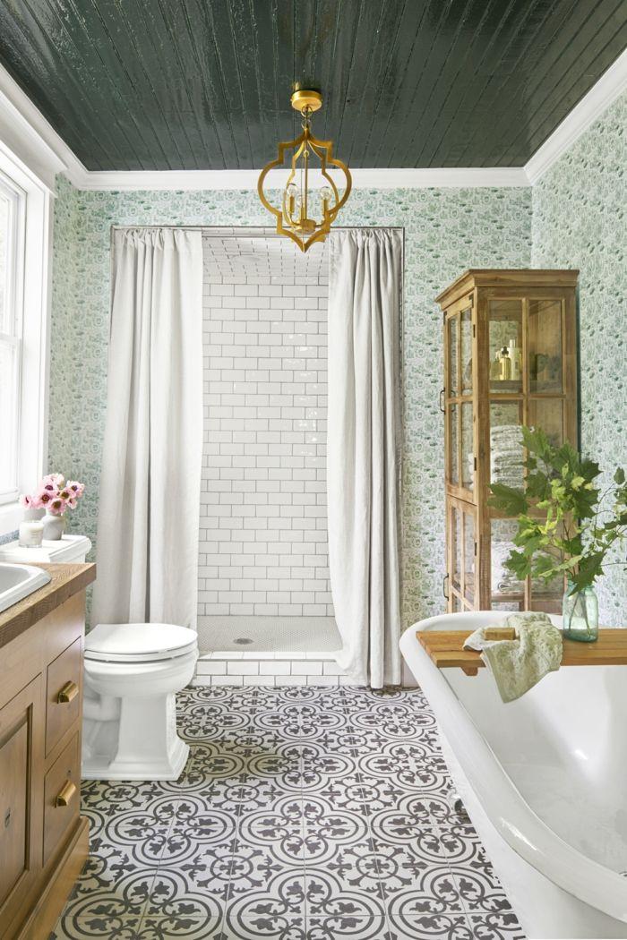 retro fliesen bodenfliesen badezimmer pflanzen weiße - bodenfliesen für badezimmer