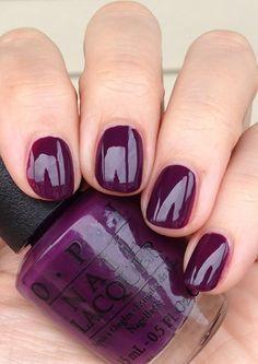 Purple Plum Nail Polish Opi Skating On Thin Iceland Love This Shade For Fall