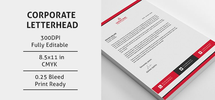 Psd Corporate Letterhead New Design  Template