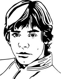 Luke Skywalker Face Clipart Google Search Luke Skywalker Face Male Sketch Clip Art
