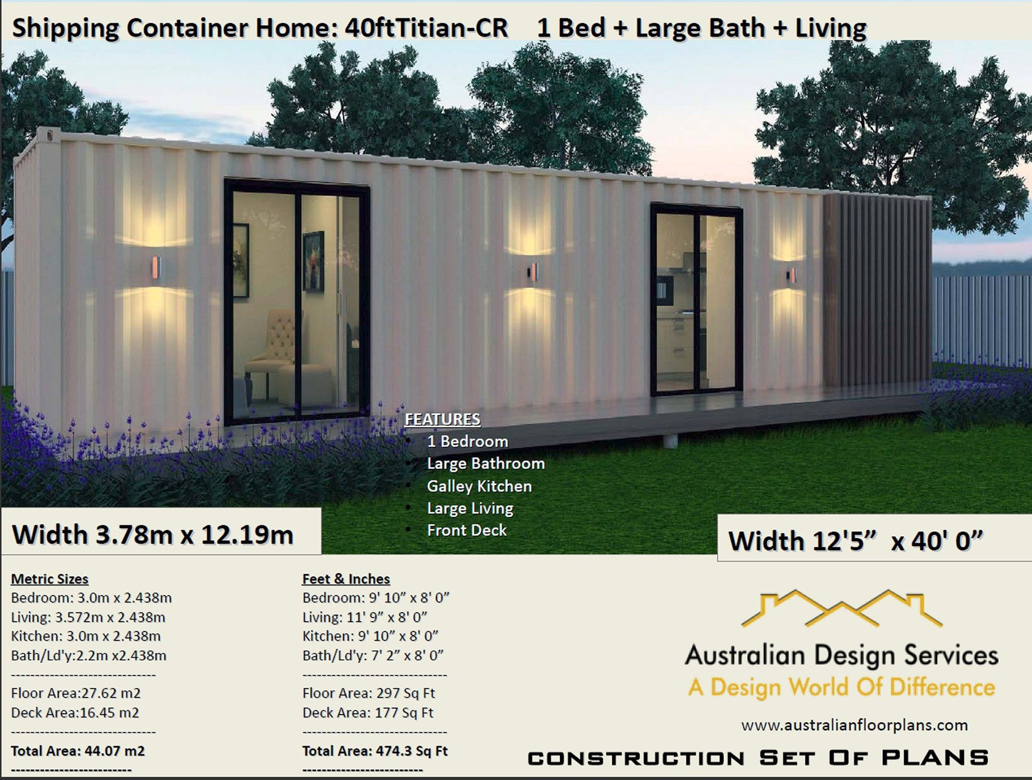 Shipping Container Home 40 Foot Full Construction House Etsy In 2020 Container House Shipping Container Homes Container Homes Australia