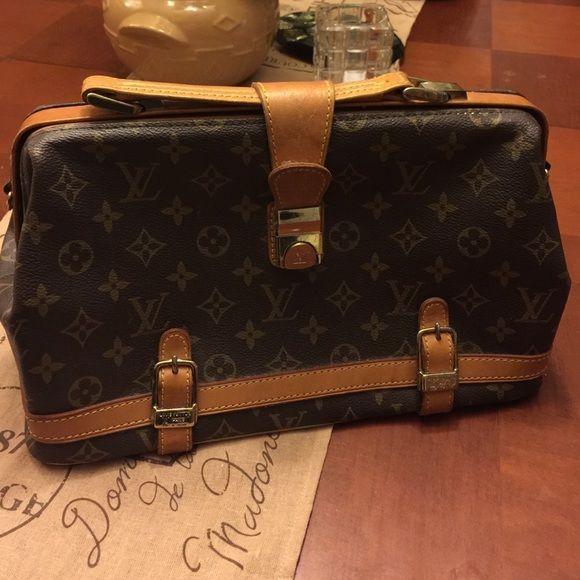 93088b03958e Vintage 1970 s Rare Louis Vuitton Doctors Bag. 1970 s Vintage Louis Vuitton  Doctors Bag. Mint