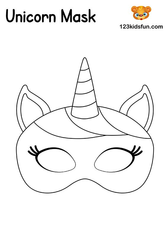 Unicorn Mask Free Printable Mask Template In 2020 Unicorn Mask Mask Template Printable Masquerade Mask Template