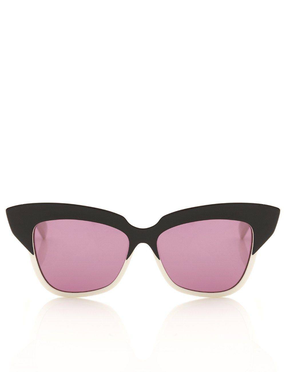 447763f8970d Monochrome Cat-Eye Sunglasses Wunderkind | Sunglasses/ Watches | Cat ...