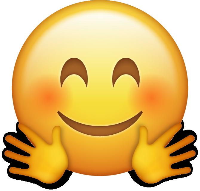 Hugging Emoji Icon Png 670 641 Pixels Emoji Emoji Pictures Hand Emoji
