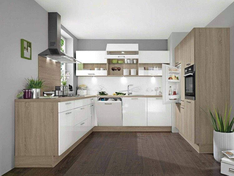 Kche UForm  Layout hnlich  Kitchen diningroom  Kche Essen in 2019  Kchen in u form