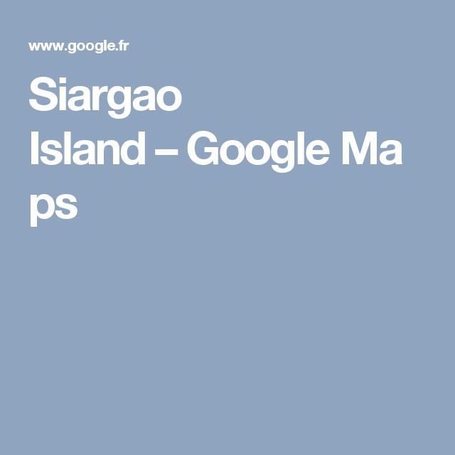 Siargao Island–GoogleMaps