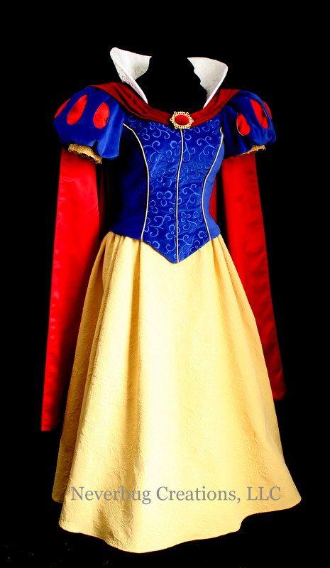 Snow White Parks Costume Embroidered Bodice Vestido