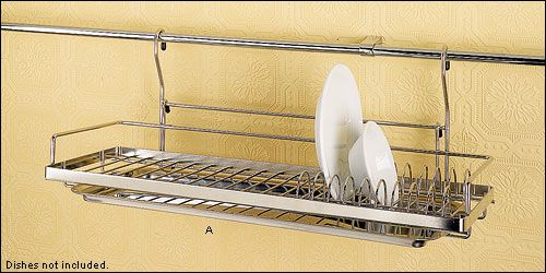 Hanging Dish Racks Keeps Your Counter Clear While Dishes Air Dry.