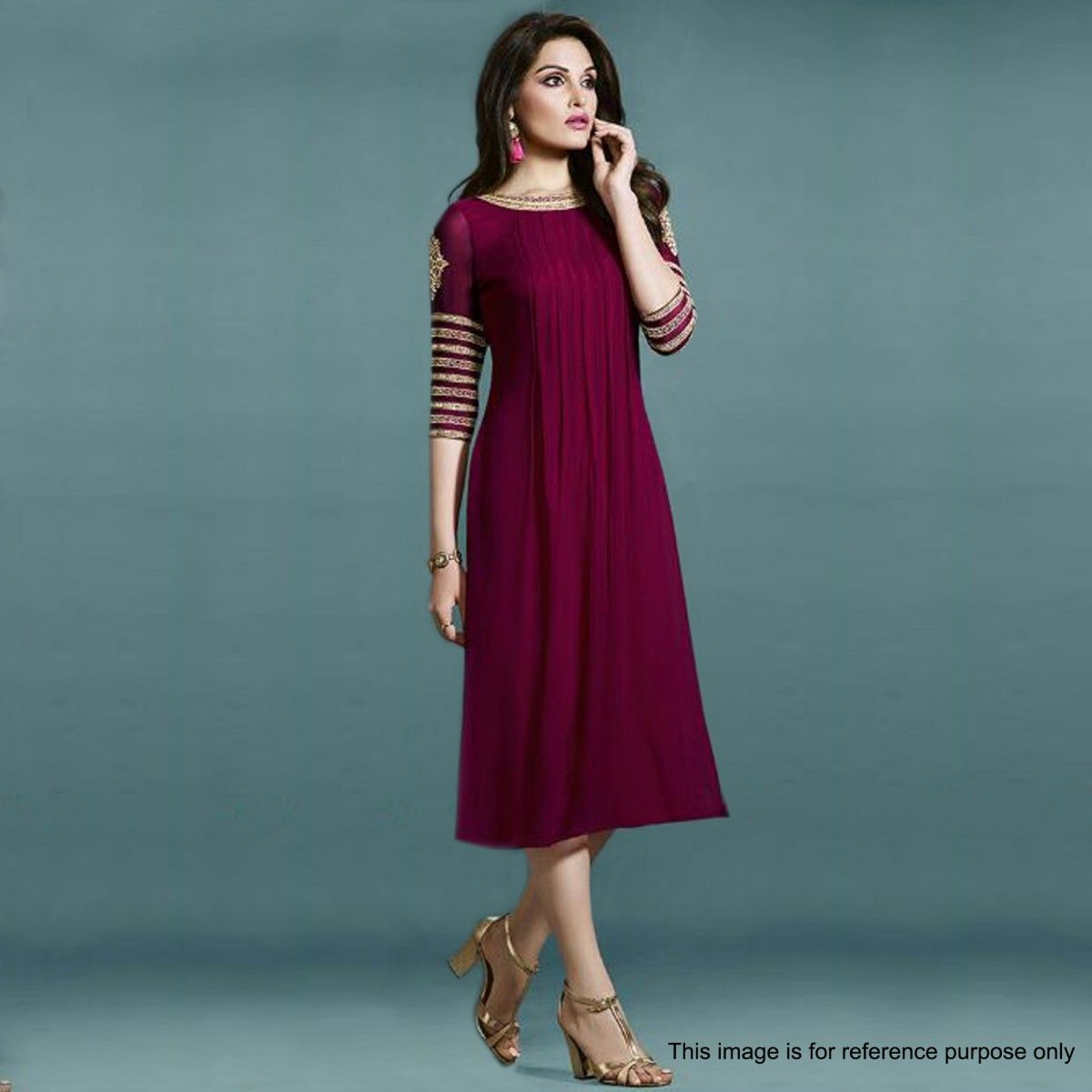 855a95047 Buy Maroon Party Wear Kurti - Latest Kurti Online Shopping at Peachmode