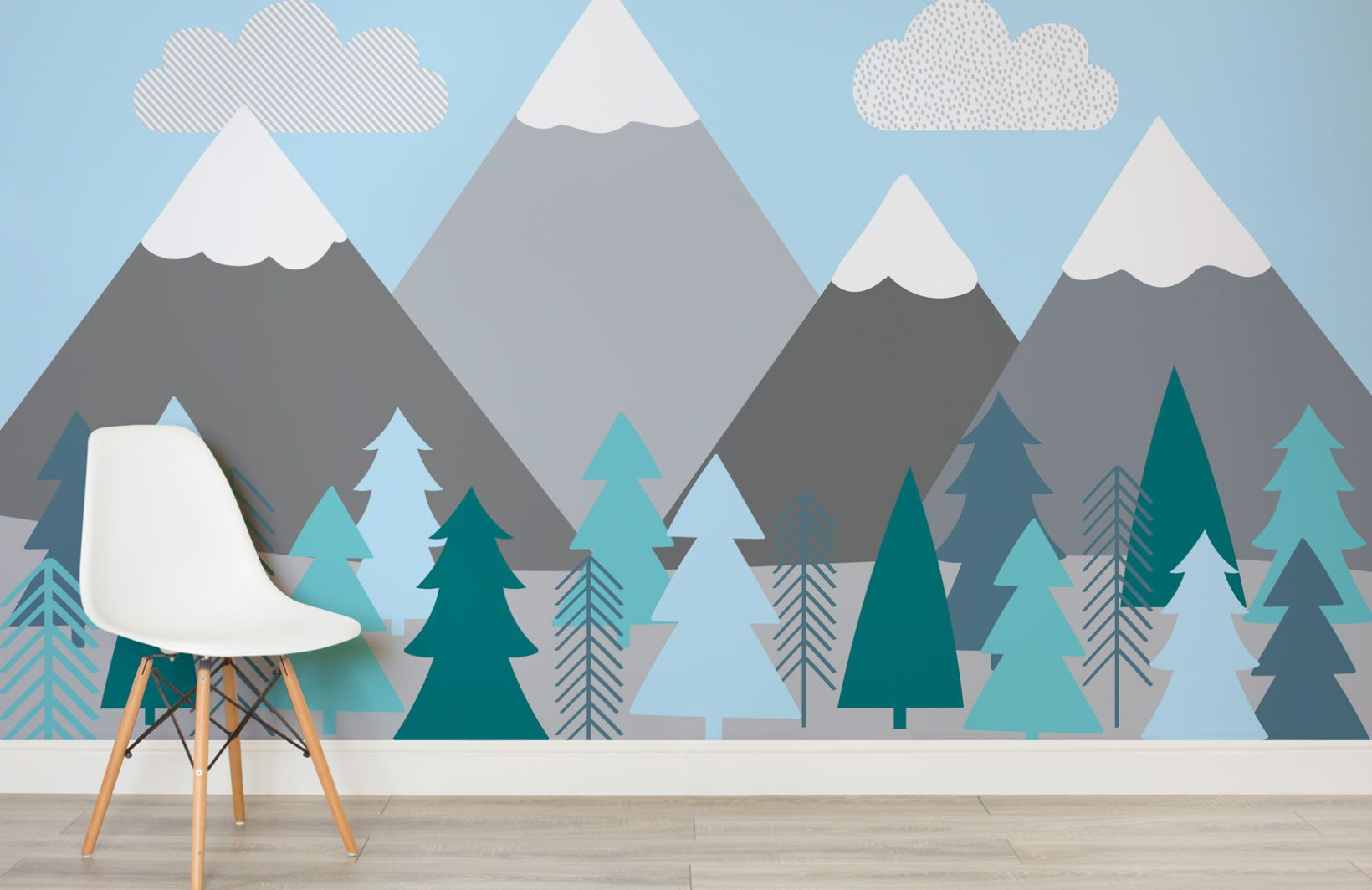 Bureau Maternelle Garcon Kids Mountains And Trees Wall Mural Kiddo Pinterest