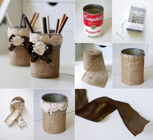 Kendin Yap Lamba Easy Diy Crafts, Diy Craft Projects, Decor Crafts, Tin Can
