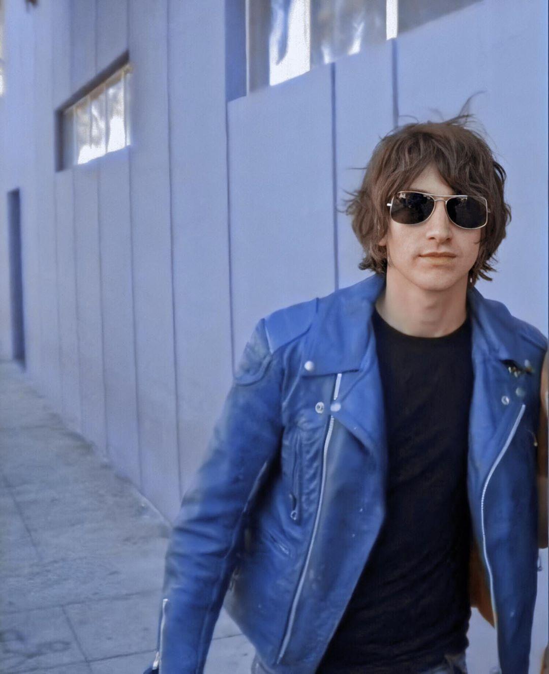 Alex Turner S Instagram Profile Post Same Jacket Alexturner Arcticmonkeys Alex Turner Blue Leather Jacket Arctic Monkeys [ 1326 x 1080 Pixel ]