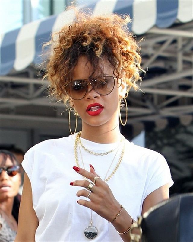 Wondrous 1000 Images About Rihanna Hairstyles On Pinterest Latest Hairstyle Inspiration Daily Dogsangcom