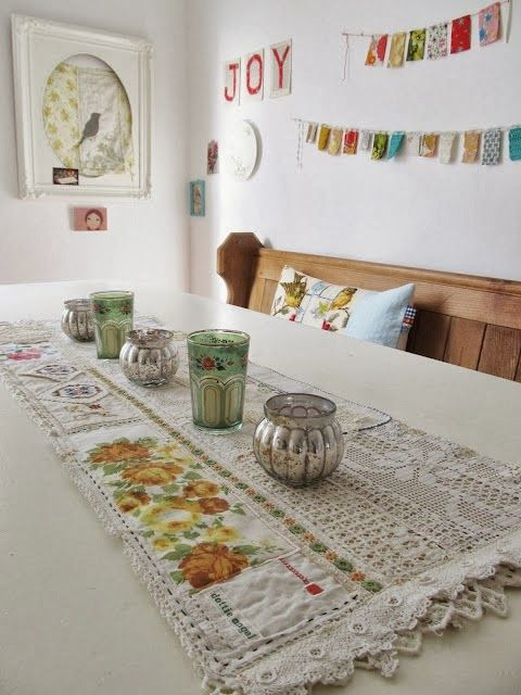 Great way to use vintage pieces. Cream Life: What about Granny Chic?