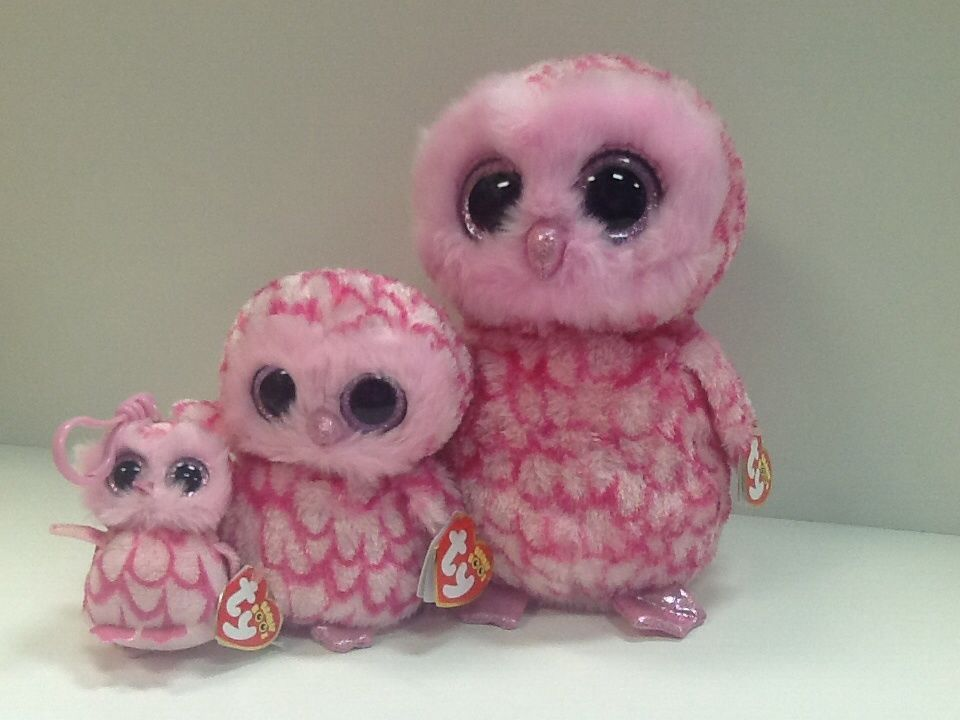 MINT with MINT TAG PINKY the OWL KEY CLIP TY BEANIE BOOS BOO/'S
