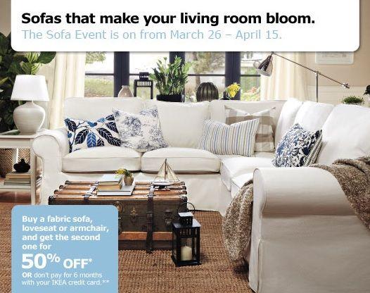 Ikea Sofa Event http://bit.ly/Hdzklc | ShopCatch Deals | Pinterest