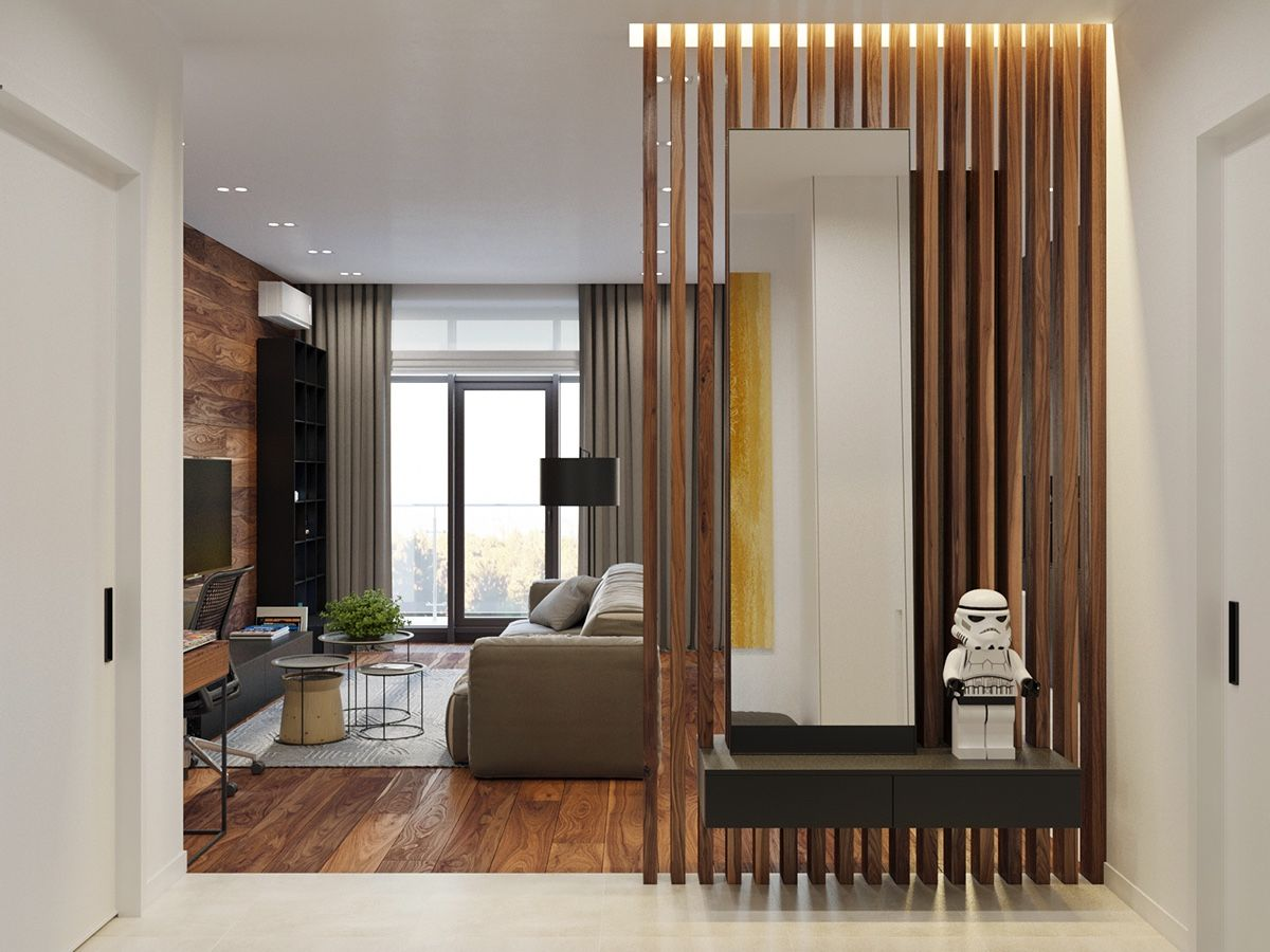 Lying A Rustic Studio Apartment Design Which Decor By Wooden Accent Roohome Designs Plans