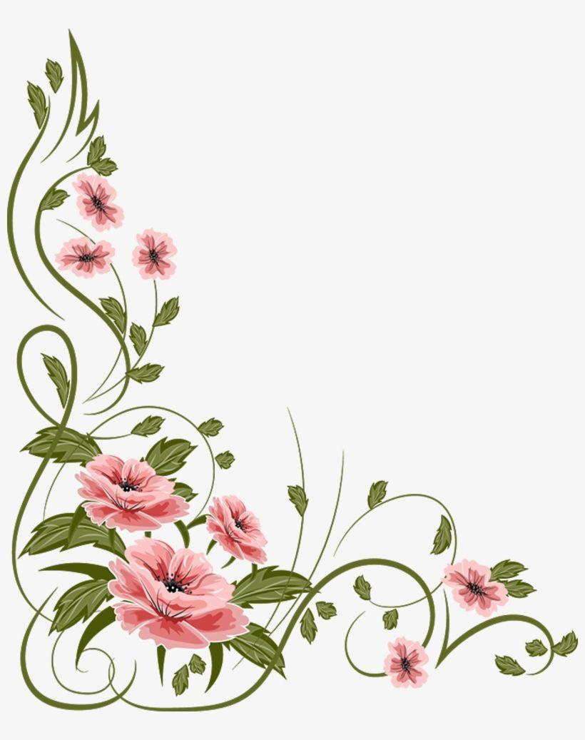 Marcos Flores Png Vintage Flower Vector Png Transparent Png Download Flower Drawing Flower Mural Vintage Flowers