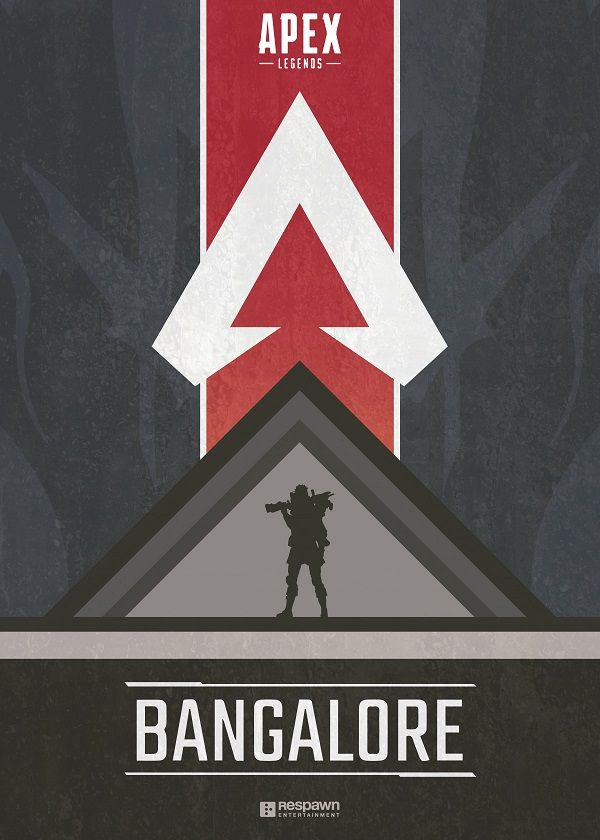 "Apex Legends Character Silhouettes Bangalore #Displate explore Pinterest""> #Displate artwork by artist ""Jude Beavis"".… | Displate thumbnail"