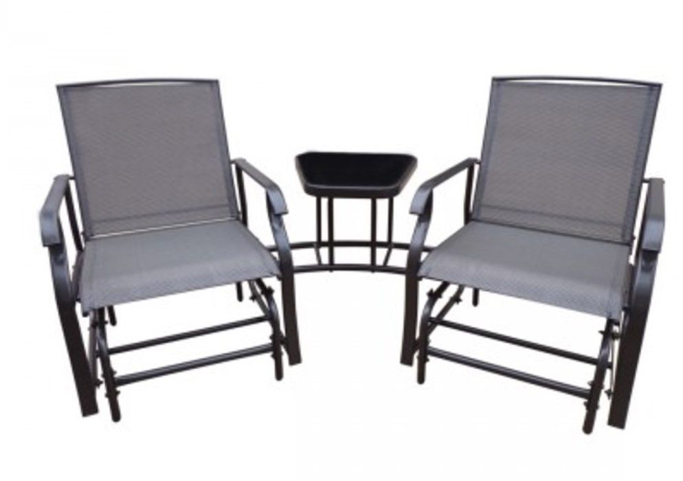Incredible Patio Rocking Chair Bistro Set With Table Garden Outdoor Ibusinesslaw Wood Chair Design Ideas Ibusinesslaworg